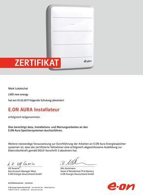 Zertifikat E.ON