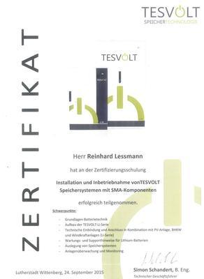 Zertifikat TESVOLT